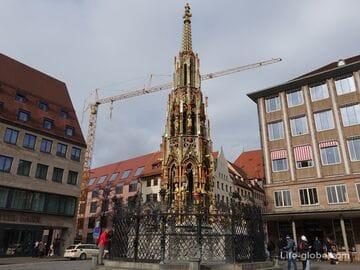 «Красивый фонтан» в Нюрнберге (Schöner Brunnen) - Прекрасный фонтан