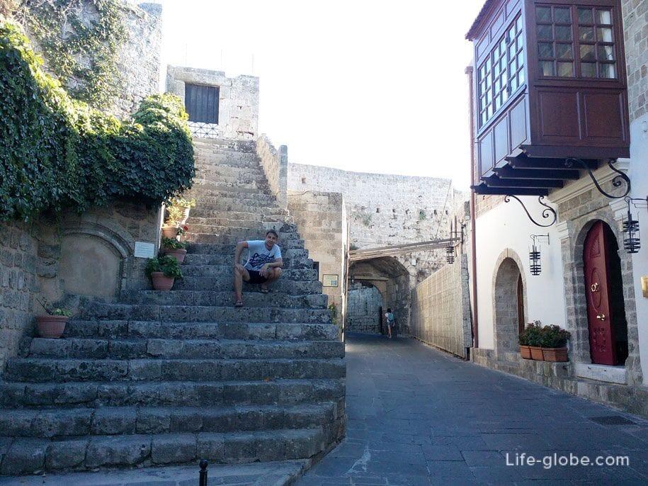 Жилая часть Старого города Родоса, Греция