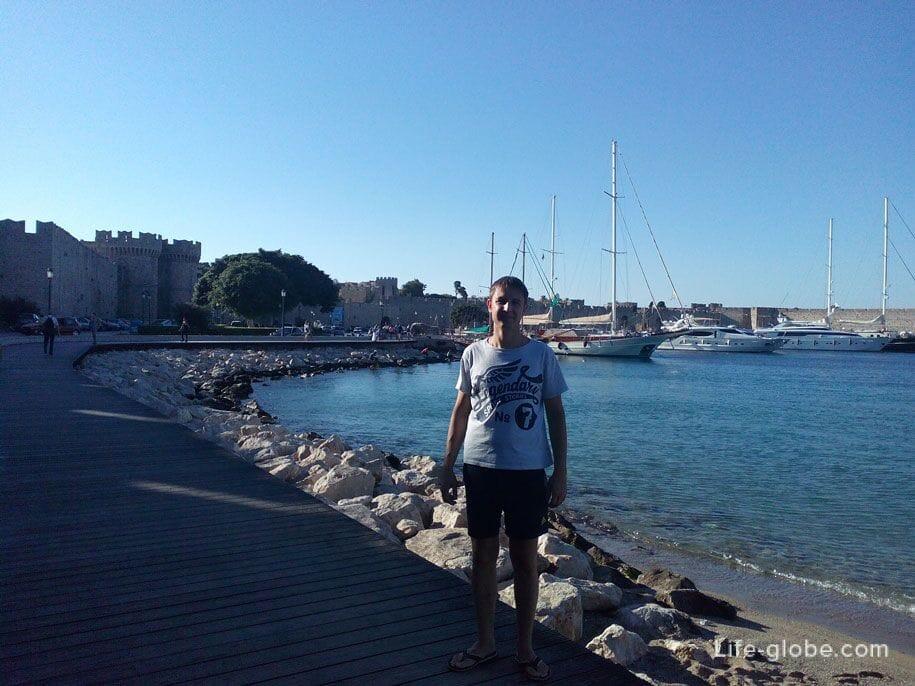 Туристическая набережная Родоса, Греция