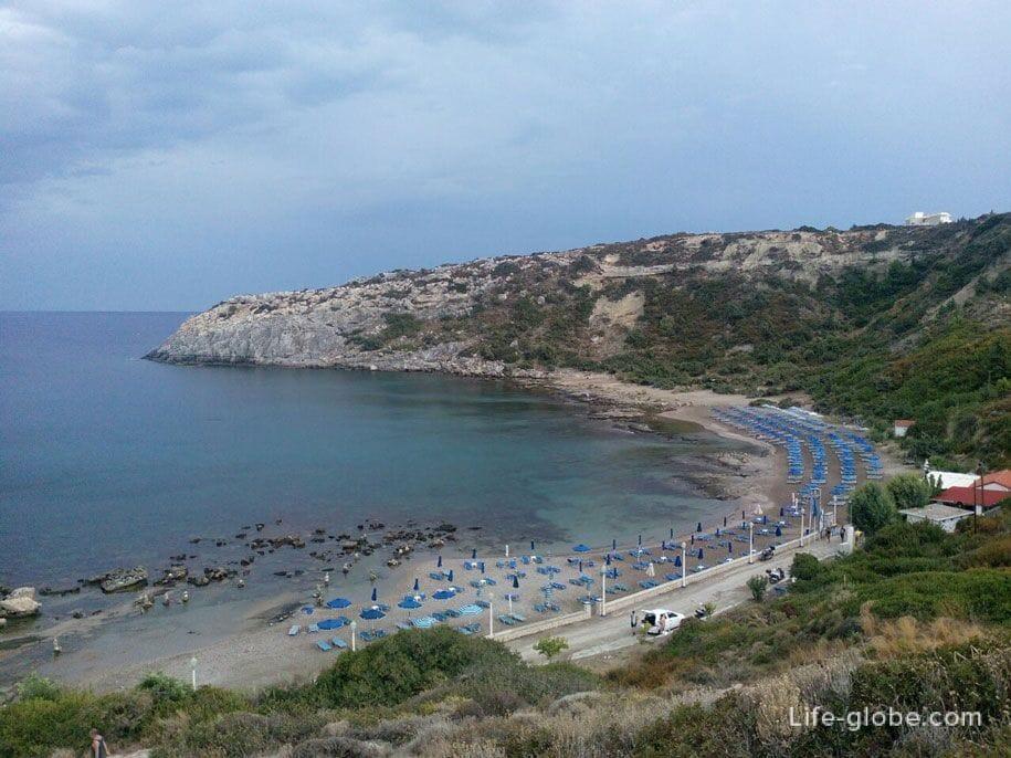 Бухта (пляж) Энтони Куинна и Ладико, Родос