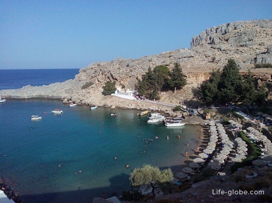 Бухта Святого Павла, Родос, Греция
