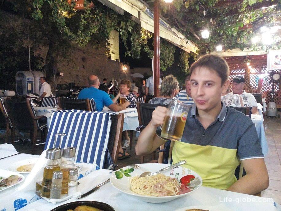 Рестораны на острове Родос, Греция