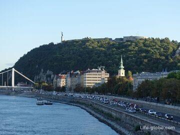 Гора Геллерт, Будапешт (Gellert-hegy): смотровые, статуя Свободы, цитадель, скальная церковь, философский сад