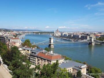 Мосты и набережные в Будапеште (Дунай)