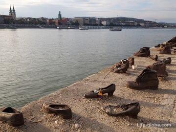 Туфли на набережной Дуная в Будапеште (Cipők a Duna-parton)