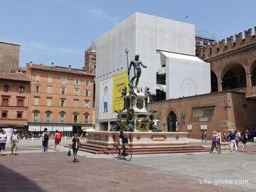 Площадь Нептуна в Болонье (Piazza del Nettuno) - самая изящная площадь города (фонтан Нептун)