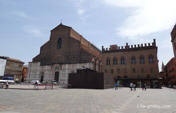 Площадь Маджоре в Болонье (Piazza Maggiore) - центральная площадь города