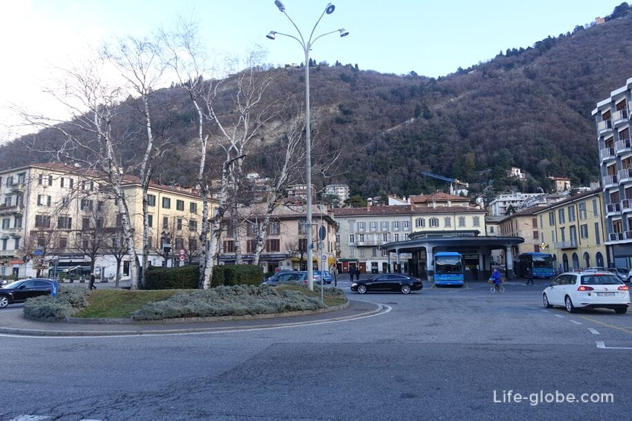Bus station in Como