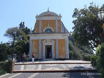 Церковь Святого Георгия и смотровая площадка в Портофино (Chiesa di San Giorgio) - лучшие панорамные виды