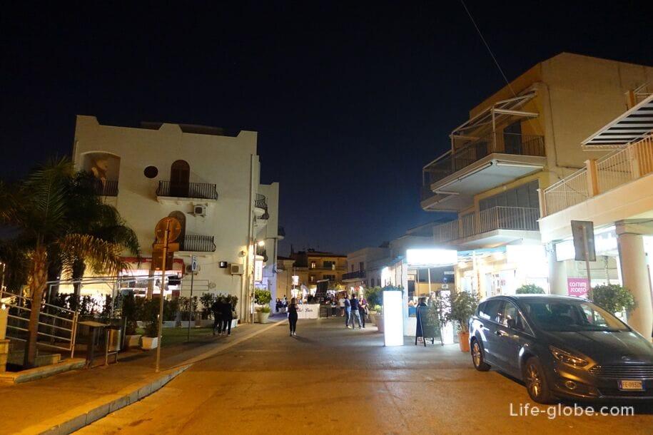 Promenade of Marina di Ragusa