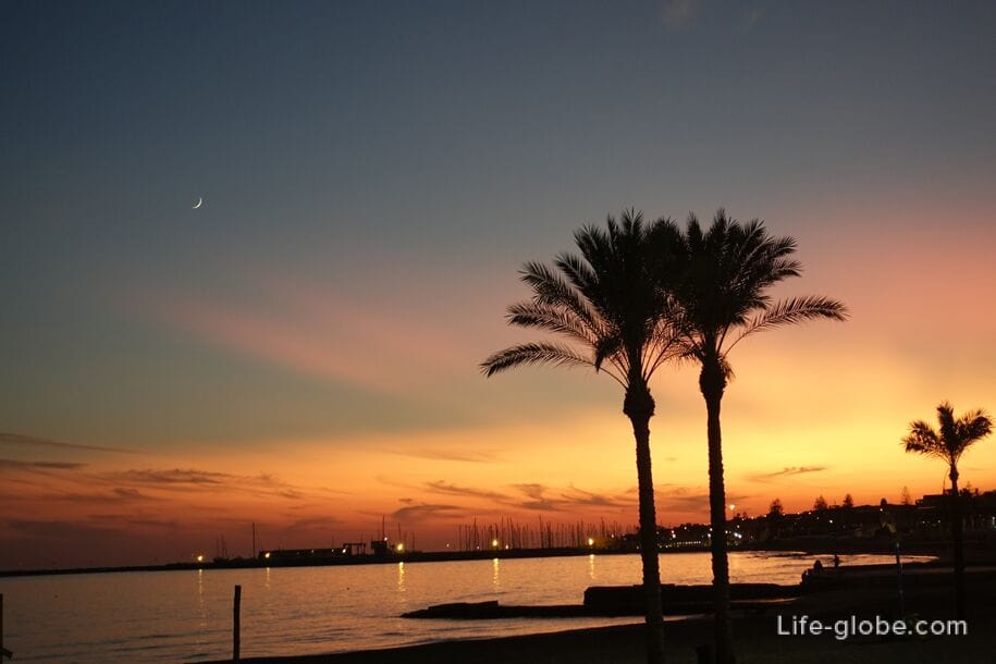 Sunset in Marina di Ragusa