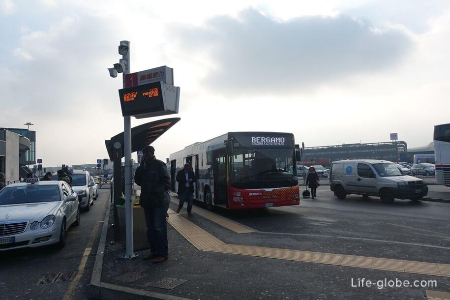 Автобус Бергамо аэропорт - Бергамо