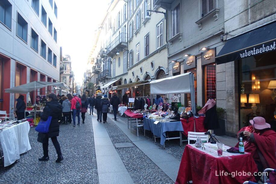 Торговцы в квартале Брера, Милан