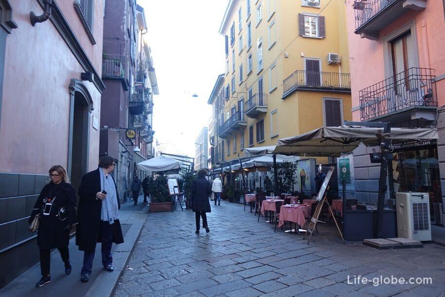 Улица Брера, Милан