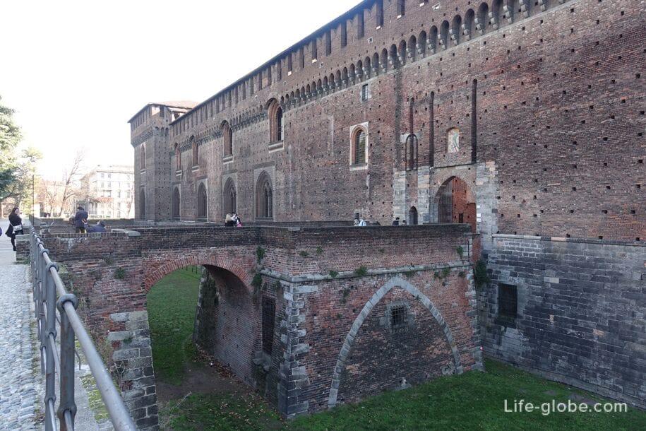Мост Людовико иль Моро, замок Сфорца, Милан