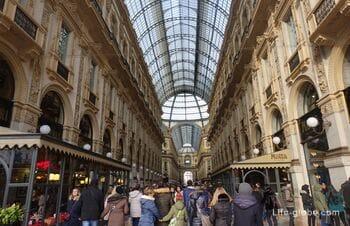 Элитный шоппинг в Милане - золотой четырехугольник и галерея Виктора Эммануила II