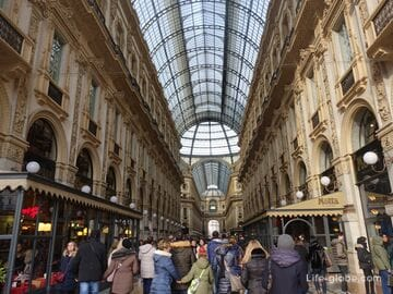 Luxury shopping in Milan - the Golden quadrilateral and the Galleria Vittorio Emanuele II