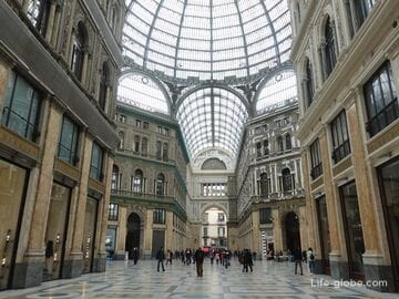Gallery Umberto I in Naples (Galleria Umberto I) - Naples passage