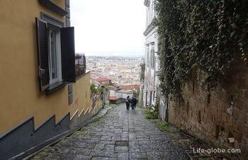 Pedamentina, Naples - panoramic staircase (Pedamentina San Martino)
