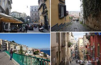 Main tourist streets of Naples