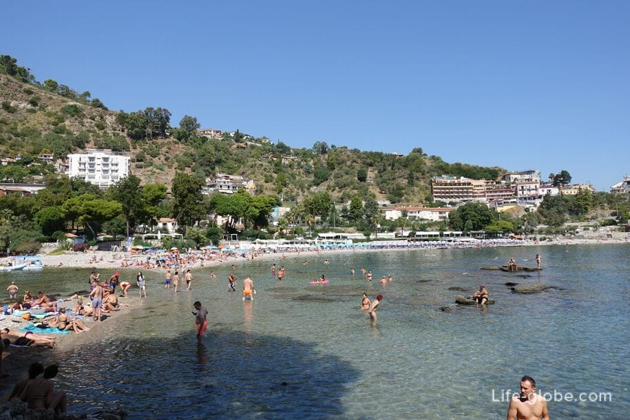 Beach of Isola Bella, Taormina
