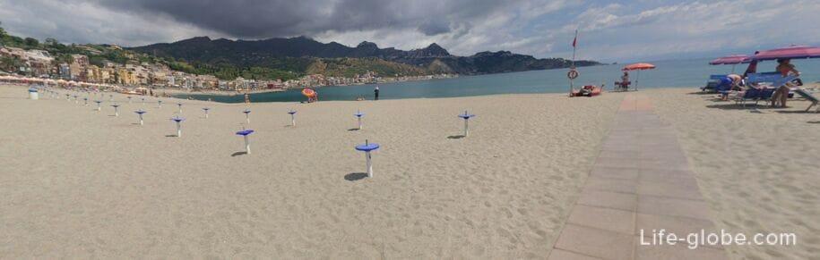 Пляж Джардини Наксос, Сицилия