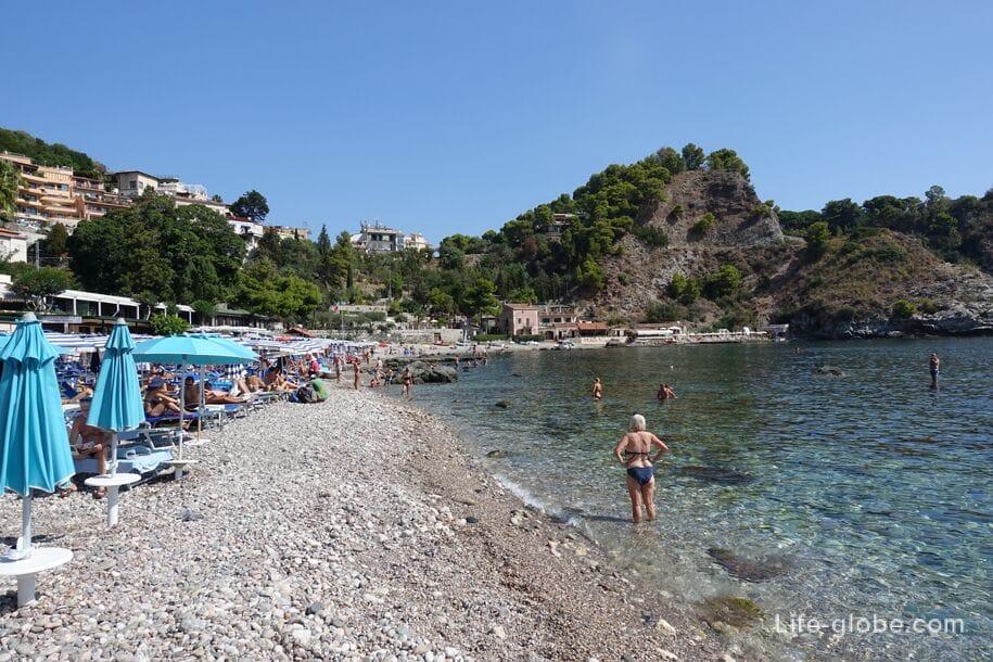 Isola Bella Beach, Taormina, Sicily