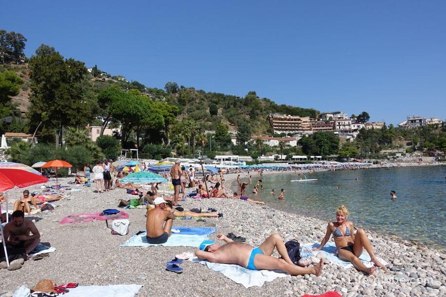 Пляж Изола-Белла, Сицилия
