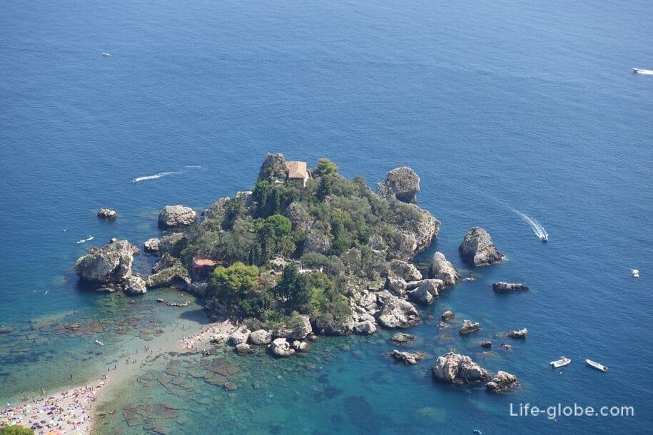 Природный заповедник - остров Изола Белла, Таормина