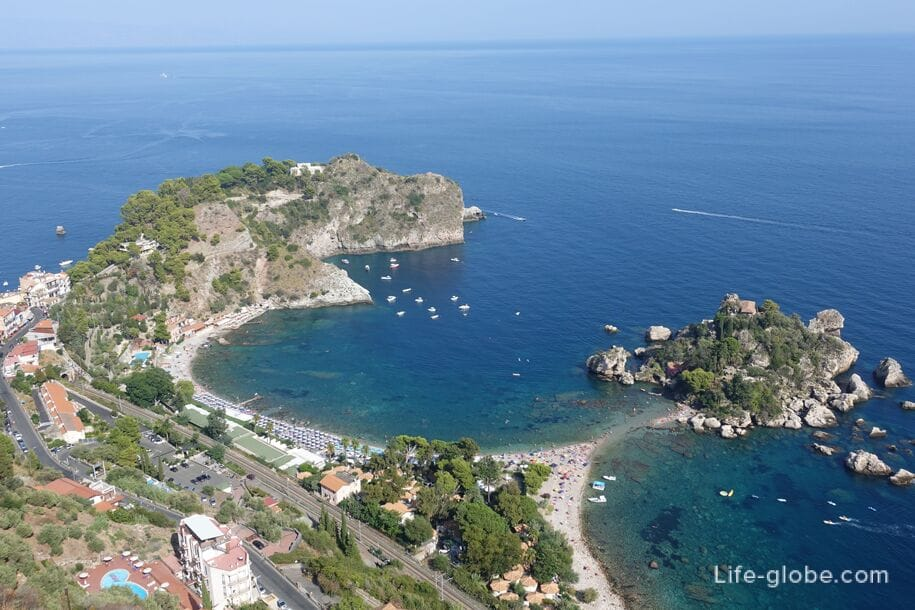 View of Isola Bella, Sicily