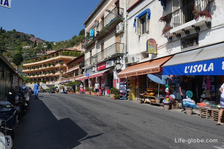 Via Nazionale street, it is the promenade, Taormina