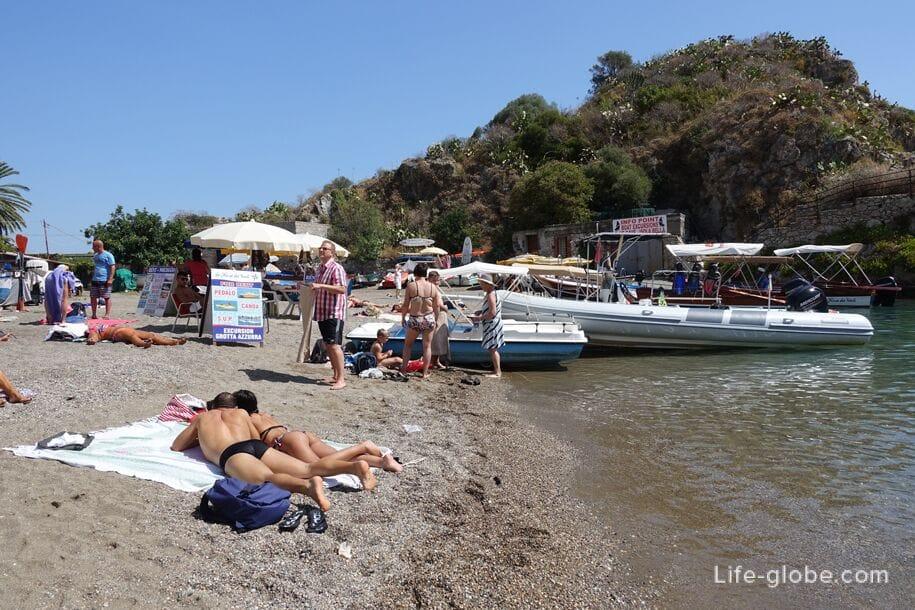 Пляж Mazzaro, Таормина, Сицилия