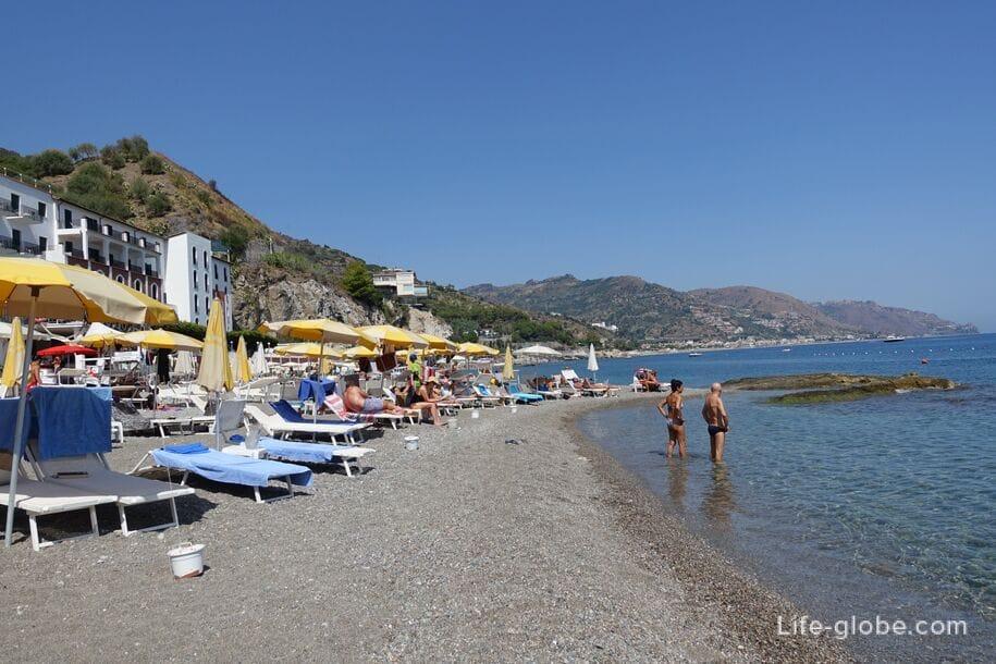 Spizone Beach, Taormina, Sicily