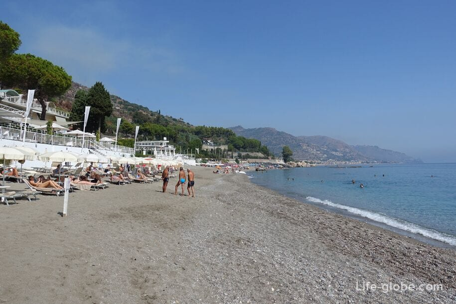 Beaches near Taormina, Sicily