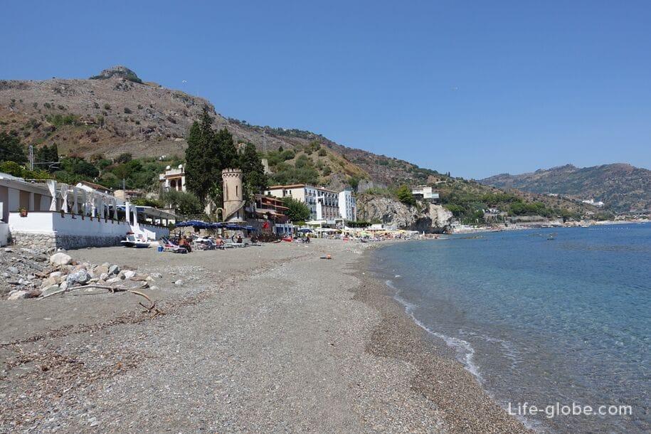Spizone Beach, Taormina