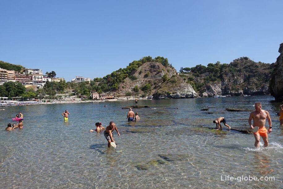 Пляж Isola Bella