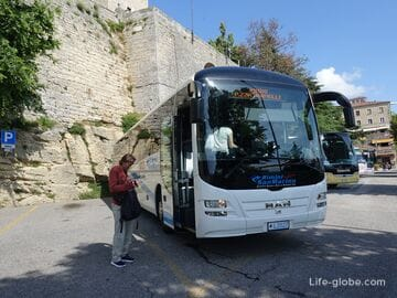 From Rimini to San Marino, how to get there: bus, excursion, taxi and car
