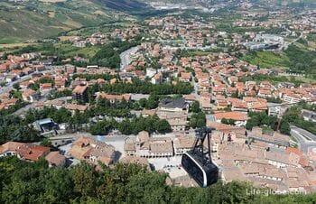 Канатная дорога Сан-Марино - Борго-Маджоре (Funivia di San Marino - Borgo Maggiore). Фуникулер Сан-Марино