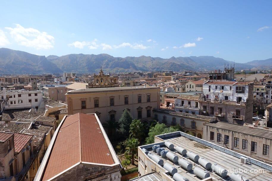 Вид с купола церкви Сантиссимо Сальваторе, Палермо