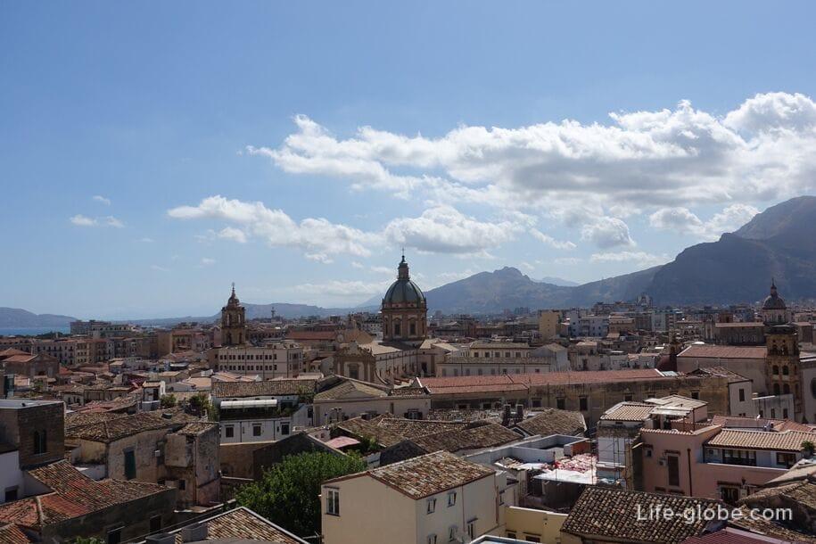 Вид на Палермо с купола церкви Святейшего Спасителя