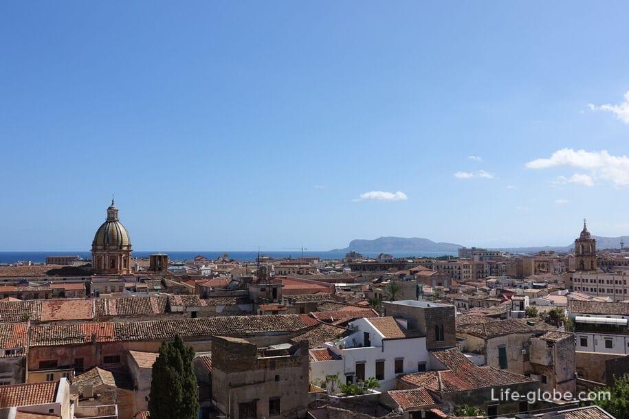 Вид на с купола церкви Святейшего Спасителя, Палермо