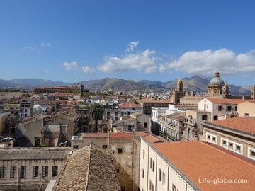 Church of the Most Holy Savior in Palermo. Climbing the Dome and 360° panorama of Palermo