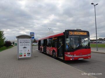 Из центра Каунаса в аэропорт Каунаса. Из аэропорта в центр города