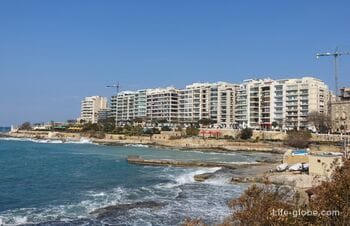 Залив Эксилс, Слима, Мальта (Exiles Bay)