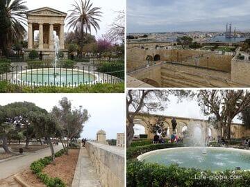 Сады Валлетты, Мальта (видовые парки Валлетты)
