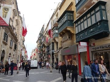 Republic street, Valletta - the main street of the city