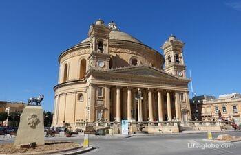 Ротонда Моста, Мальта (Mosta Rotunda) - базилика с музеем бомбы, смотровой площадкой и убежищем войны