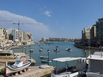 Залив Спинола, Сент-Джулианс, Мальта (Spinola Bay)