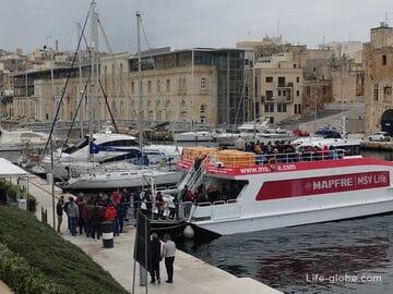 Валлетта-Тригородье (Биргу, Бормла, Сенглеа), Мальта: паромы, автобусы, такси, авто