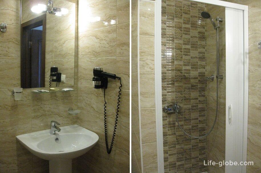 Ванная комната, Премьер отель в Смоленске